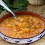 zuppa rustica patate e ceci