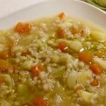 Zuppa verza patate e zucca con orzo