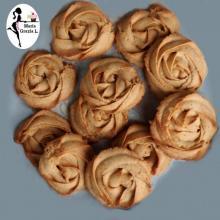 biscotti petali di rose con la zucca