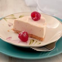 Cheesecake con skyr ai lamponi