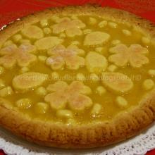 Crostata con farina di ceci e lemon curd alle uova