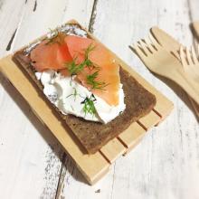 crostini danesi al salmone