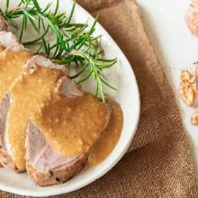 Filetto di maiale in salsa di noci