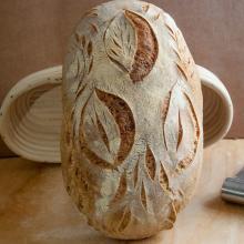 filoncino di pane con sfarinato di semola di altamura dop