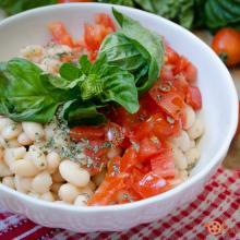 insalata di fagioli e pomodorini