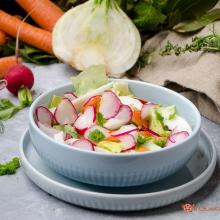 Insalata di finocchi ravanelli e carote