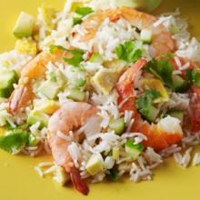 insalata di riso gamberetti e avocado