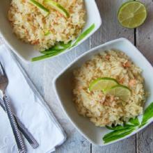 Insalata di riso salmone e lime