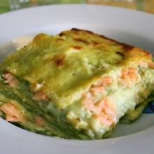 Lasagne salmone affumicato e besciamella agli asparagi