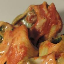 Lumaconi ricotta e spinaci gratinati al forno
