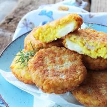 """Medaglioni di """"risotto"""" con prosciutto e formaggio"""