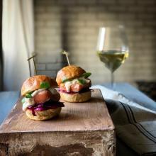 Mini burger di salmone