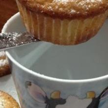 Muffin con cioccolato bianco e limone