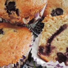 Muffin yogurt e mirtilli freschi (senza burro)