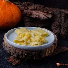 Paccheri con crema di zucca e gorgonzola
