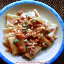 Paccheri con zucca,salsiccia e scamorza ( Paiocca)