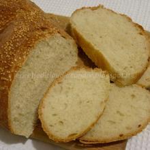 Pan ciabatta con semi di sesamo