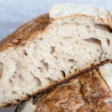 pane con farina di grano tenero abbondanza