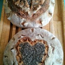 Pane decorato a lievitazione naturale