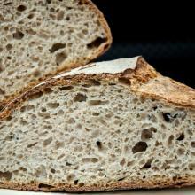 pane senza impasto (no knead bread) con mix di grani teneri