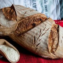 pane senza impasto tutta semola rimacinata, no knead bread