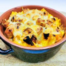 Pasta zucca salsiccia e fontina gratinata – gluten free