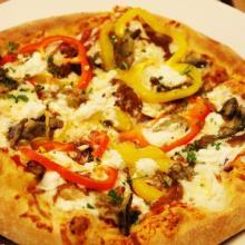 Pizza mediterranea ai peperoni