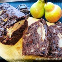 Plumcake al cioccolato fondente e pere