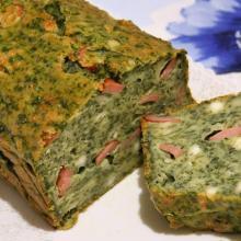 Plumcake salato alle ortiche, quartirolo e wurstel