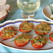 Pomodori ripieni con erba cipollina