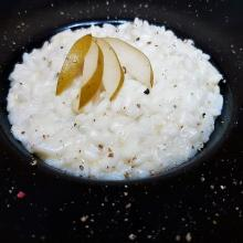 Risotto con pere nash e gorgonzola