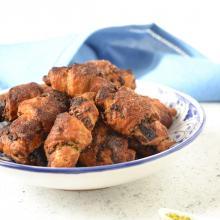Rugelach con tahini cioccolato miele e pistacchi