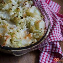 sformato di cavolfiori e patate con scamorza e pancetta