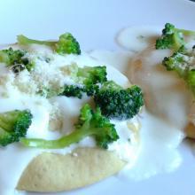 Snack con broccoletti e stracchino