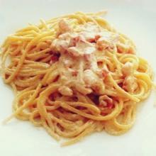 Spaghetti prosciutto e brandy
