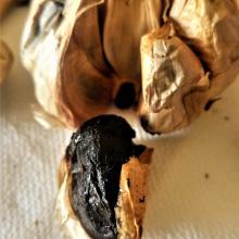Speghetti all'aglio nero. no si invecchia mangiando!