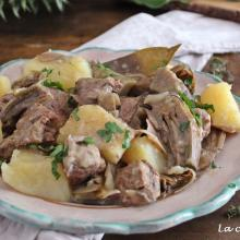 Spezzatino con carciofi e patate