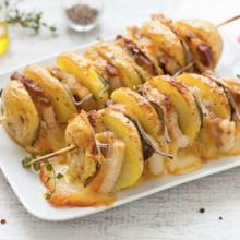spiedini di patate scamorza e pancetta