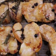Tagliata di pollo al forno