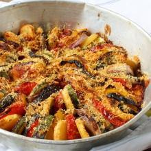 Teglia di verdure e formaggio gratinate