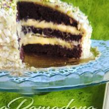 Torta al cacao con crema e glassa al pistacchio (Babbi)