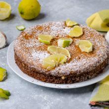 Torta al limone con crema pasticciera (ricetta senza glutine)