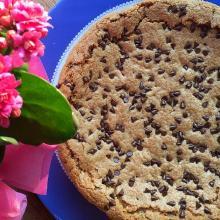 Torta biscotto di martha stewart - ricetta passo passo (chocolate chips cookie cake)