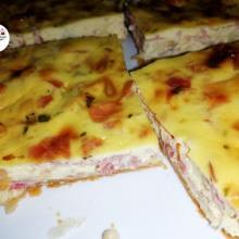 Torta salata veloce alla ricotta e prosciutto cotto