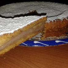 torta versata con crema di castagne