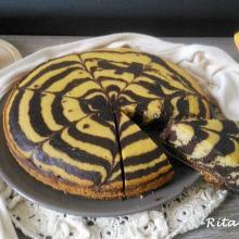 torta zebrata zucca e cioccolato