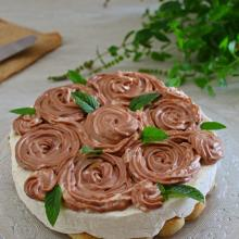Torte delle rose senza cottura