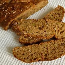 Treccia ai 5 cereali con semi di girasole, prosciutto, formaggio, olive e sesamo