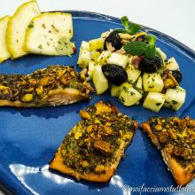 Trota alle erbe aromatiche con insalata di cedro