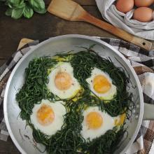 Uova agli agretti